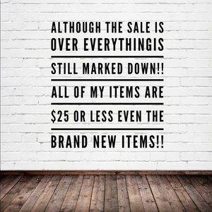 All items $25 or less brand new items included!!